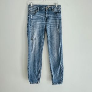 Pistola Tory Distressed Skinny Ankle Jeans Size 29